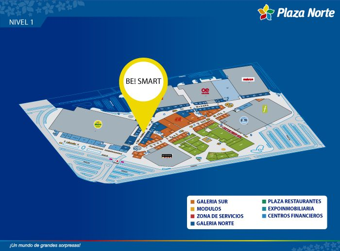 BE! SMART - Mapa de Ubicación - Plaza Norte