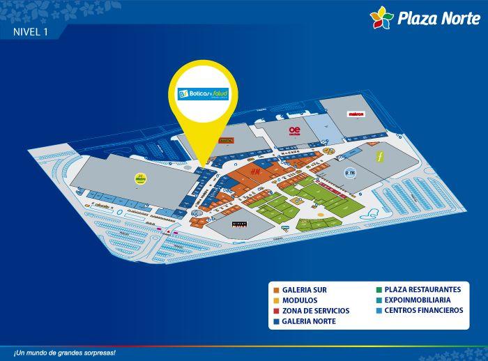 BOTICAS Y SALUD - Mapa de Ubicación - Plaza Norte