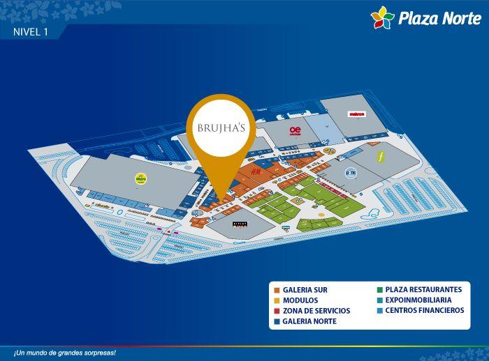 BRUJHA'S - Mapa de Ubicación - Plaza Norte