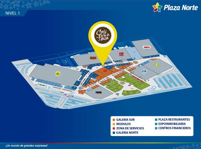 Café de la Plaza - Mapa de Ubicación - Plaza Norte