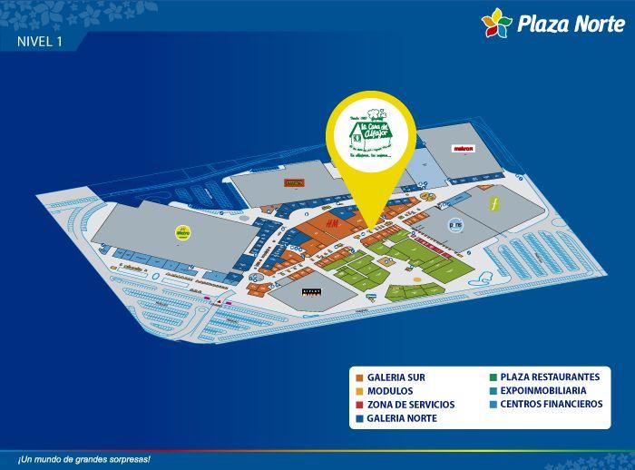 LA CASA DEL ALFAJOR - Mapa de Ubicación - Plaza Norte