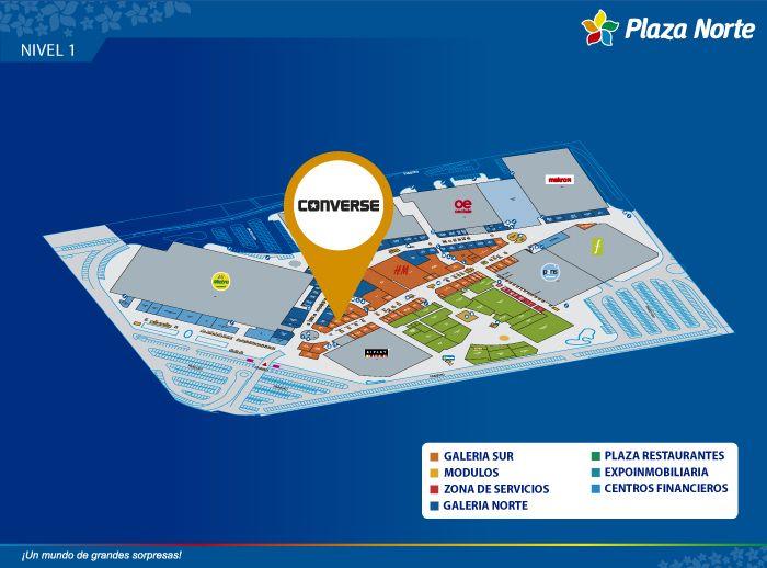 Converse - Mapa de Ubicación - Plaza Norte