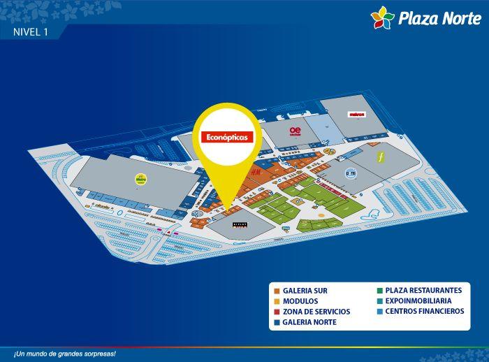ECONOPTICAS - Mapa de Ubicación - Plaza Norte