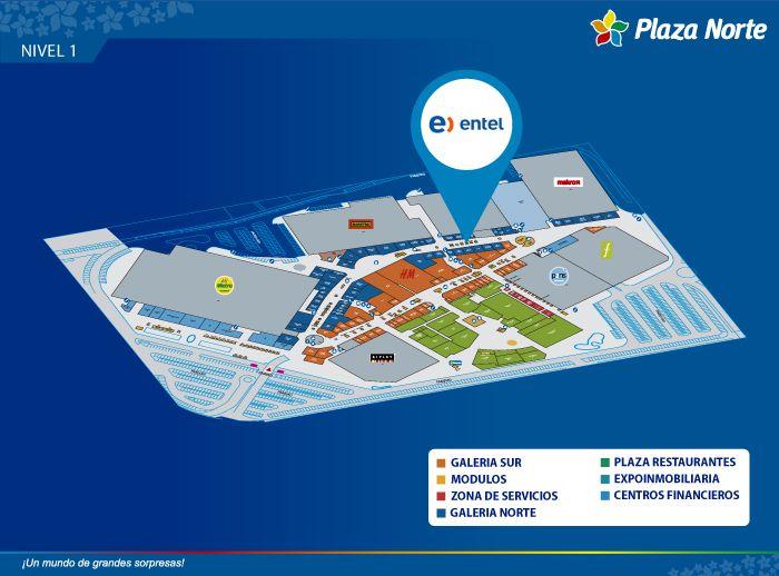 Entel (Módulo) - Mapa de Ubicación - Plaza Norte