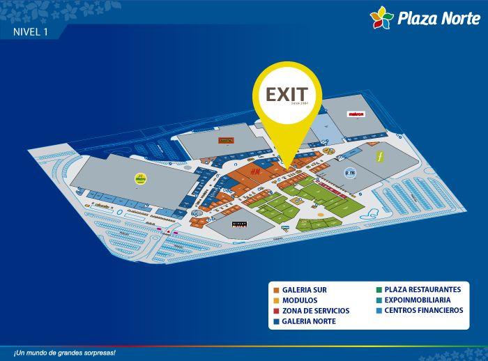 EXIT - Mapa de Ubicación - Plaza Norte