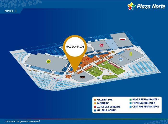 McDonald's - Mapa de Ubicación - Plaza Norte
