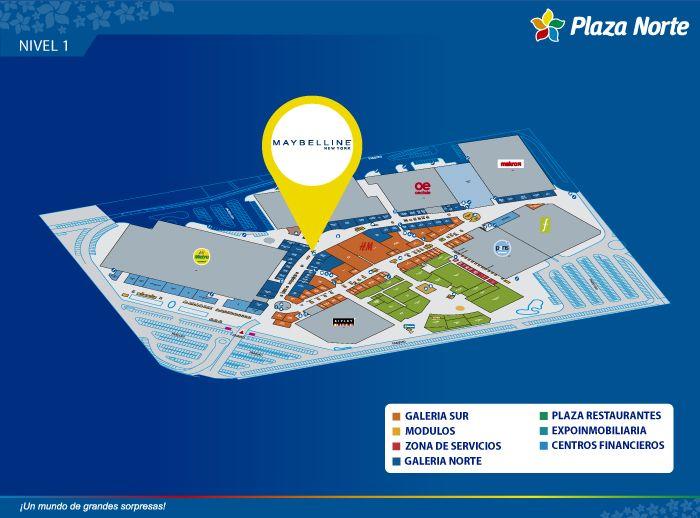 MAYBELLINE - Mapa de Ubicación - Plaza Norte