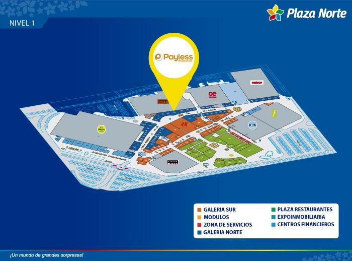 Payless Shoesource - Mapa de Ubicación - Plaza Norte