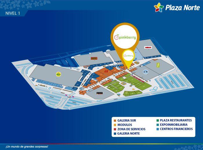 Pinkberry - Mapa de Ubicación - Plaza Norte