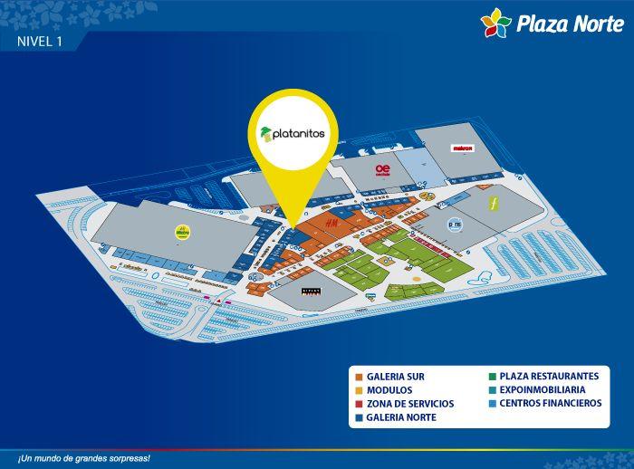 Platanitos - Mapa de Ubicación - Plaza Norte