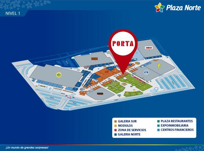 Porta - Mapa de Ubicación - Plaza Norte