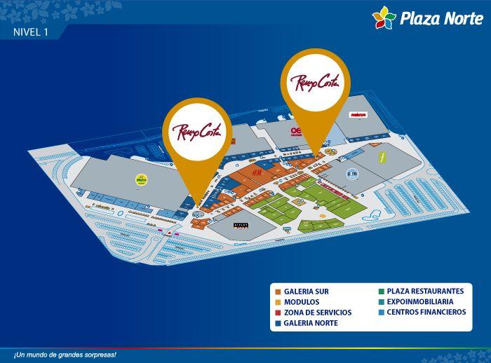 Renzo Costa Calzado - Mapa de Ubicación - Plaza Norte