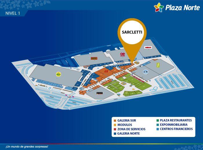 Sarcletti - Mapa de Ubicación - Plaza Norte