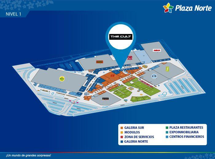 THE CULT - Mapa de Ubicación - Plaza Norte