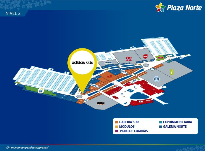 Adidas Kids - Mapa de Ubicación - Plaza Norte