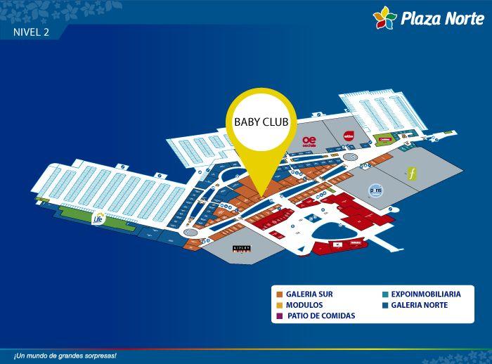 BABY CLUB - Mapa de Ubicación - Plaza Norte
