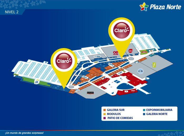 CLARO - Atención al cliente - Mapa de Ubicación - Plaza Norte