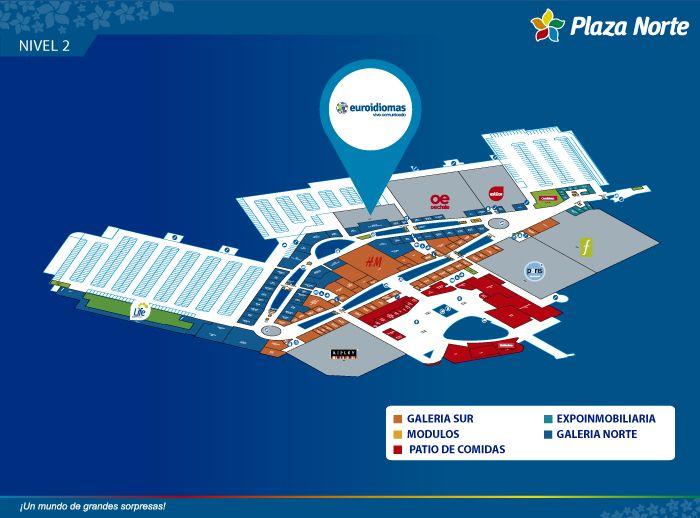 Euroidiomas - Mapa de Ubicación - Plaza Norte