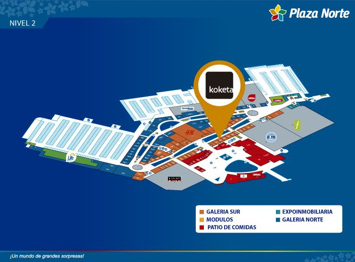 KOKETA - Mapa de Ubicación - Plaza Norte