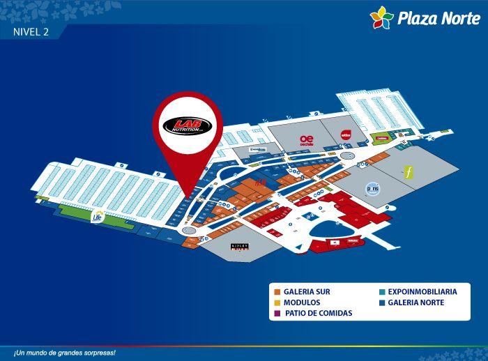 LAB NUTRITION - Mapa de Ubicación - Plaza Norte