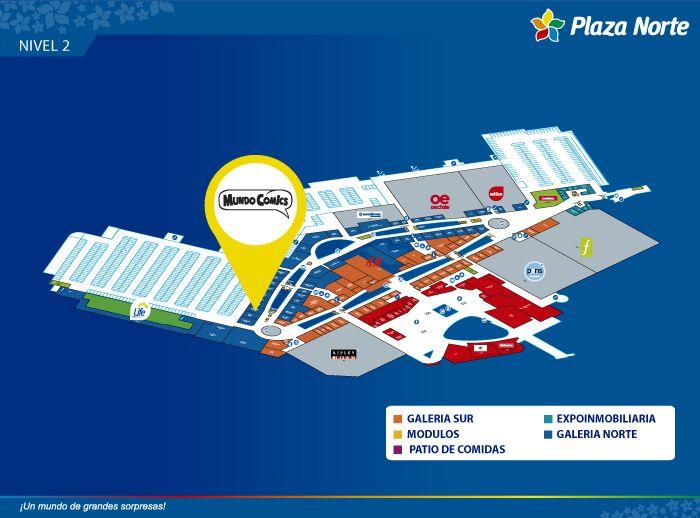 MUNDO COMICS NIÑOS - Mapa de Ubicación - Plaza Norte