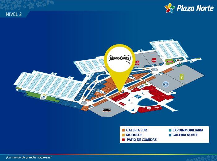 MUNDO COMICS NIÑAS - Mapa de Ubicación - Plaza Norte