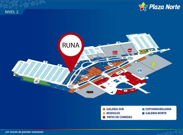 Runa Store - Mapa de Ubicación - Plaza Norte
