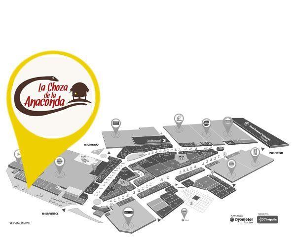 LA CHOZA DE LA ANACONDA - Mapa de Ubicación - Plaza Norte