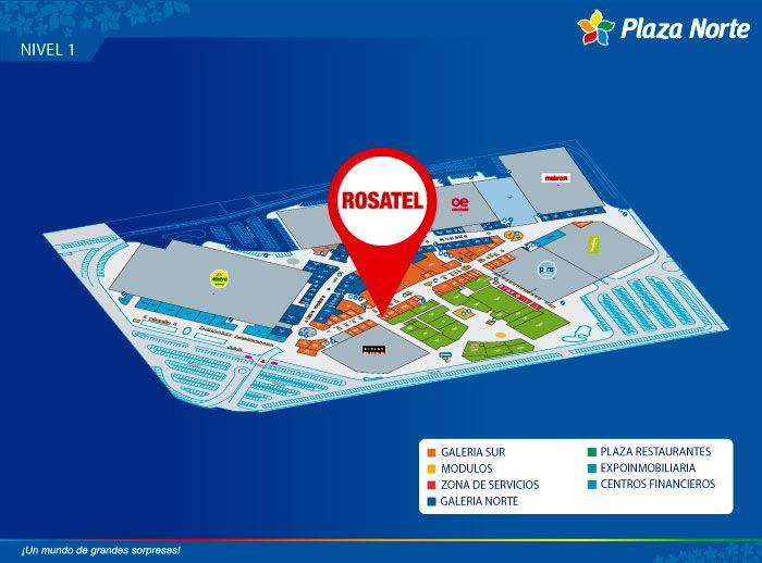 ROSATEL - Mapa de Ubicación - Plaza Norte