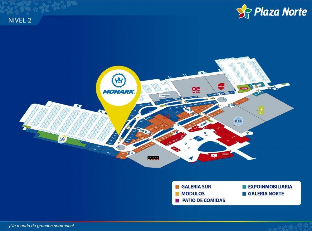 MONARK - Mapa de Ubicación - Plaza Norte