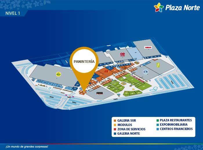 Panistería - Mapa de Ubicación - Plaza Norte