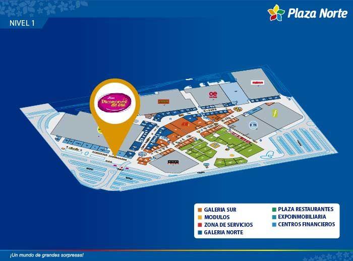 Picarones de Oro - Mapa de Ubicación - Plaza Norte
