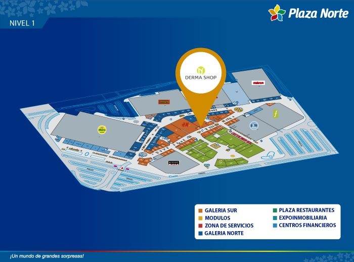 Derma Shop - Mapa de Ubicación - Plaza Norte