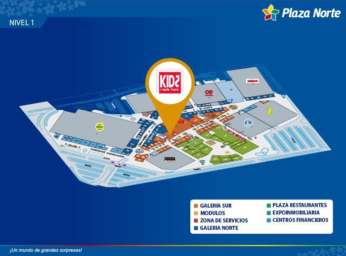 KIDS MADE HERE - Mapa de Ubicación - Plaza Norte