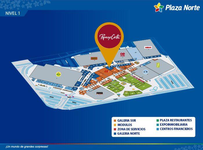 Renzo Costa - Mapa de Ubicación - Plaza Norte