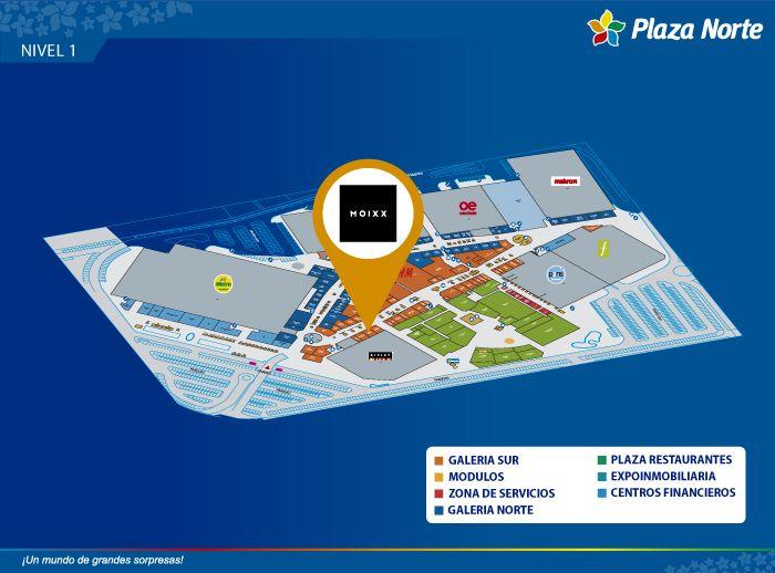 MOIXX - Mapa de Ubicación - Plaza Norte