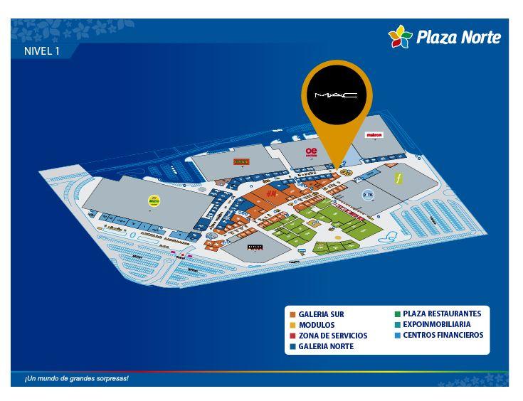 MAC COSMETICS - Mapa de Ubicación - Plaza Norte