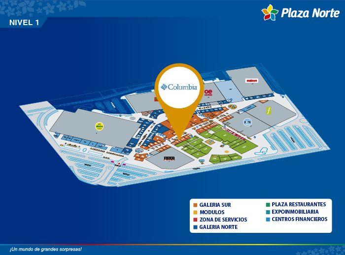 COLUMBIA - Mapa de Ubicación - Plaza Norte