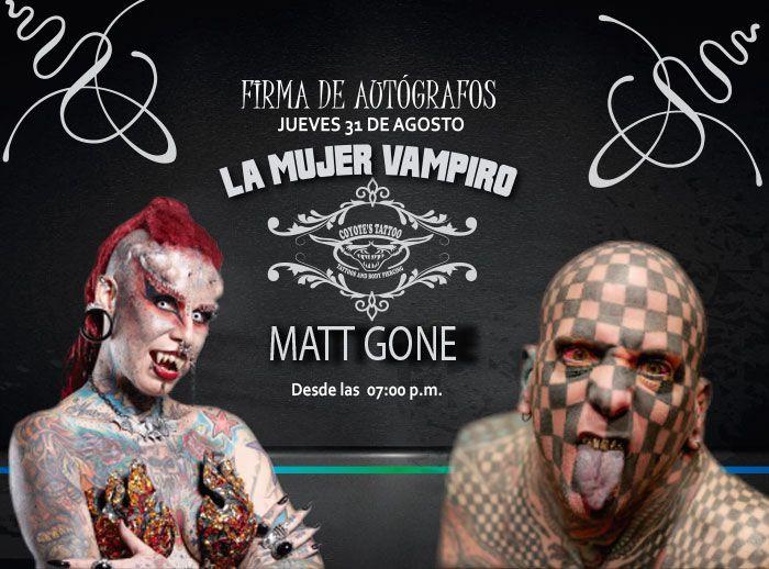 La mujer vampiro y Matt Gone en PLN - Plaza Norte