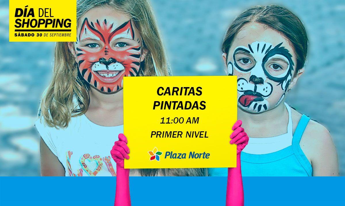 Caritas pintadas - Día del shopping - Plaza Norte