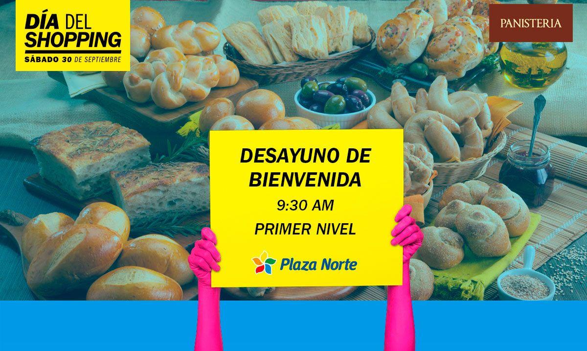 Desayuno de bienvenida - Día del shopping  - Plaza Norte