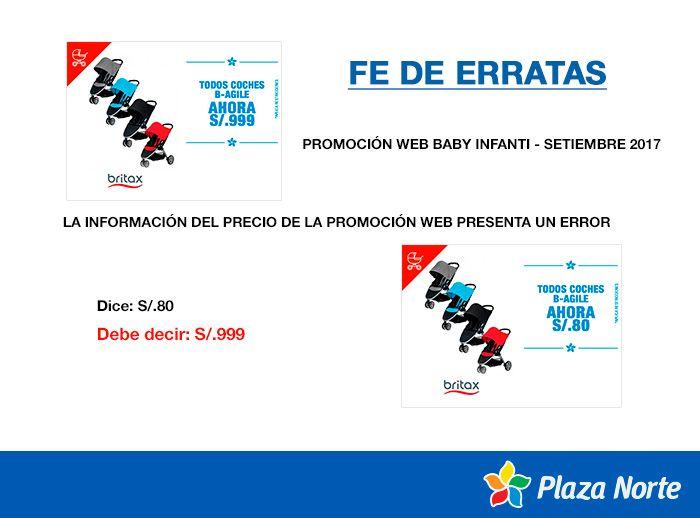 Fe de erratas - Promoción TODO COCHES B-AGILE - Plaza Norte