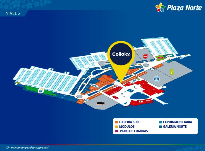 Colloky - Mapa de Ubicación - Plaza Norte