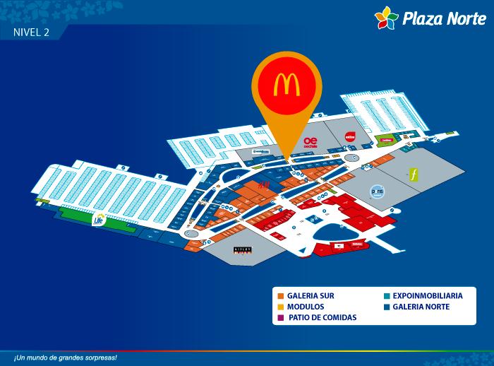 Mc Donald's - Mapa de Ubicación - Plaza Norte