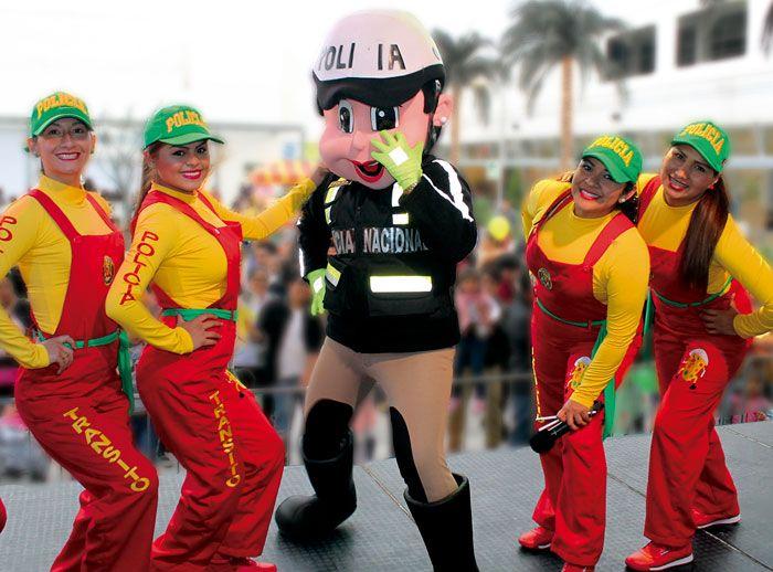 Show Infantil con la Policía  Nacional de tránsito - Plaza Norte