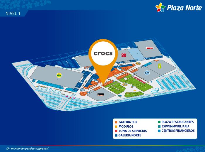 CROCS - Mapa de Ubicación - Plaza Norte