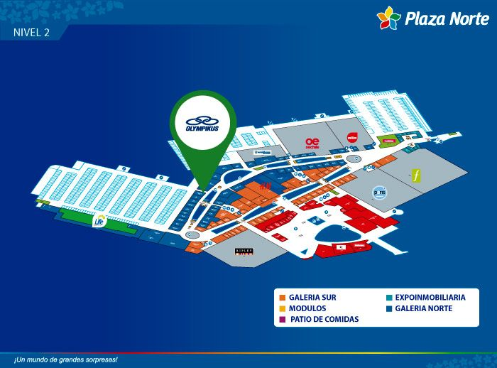 Olympikus - Mapa de Ubicación - Plaza Norte