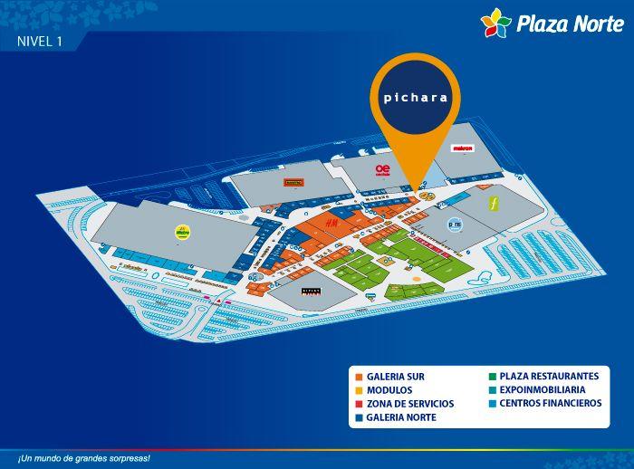 Pichara  - Mapa de Ubicación - Plaza Norte