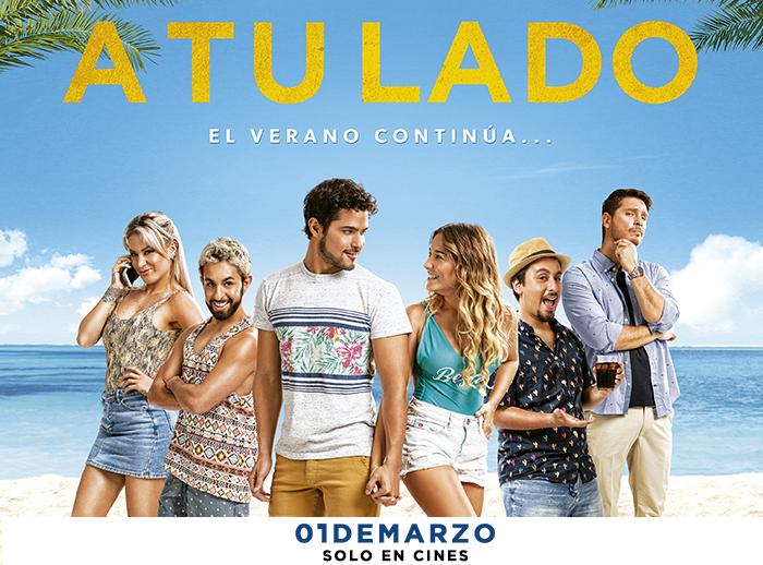 """LA FIRMA DE AUTÓGRAFOS actores de la película """" A TU LADO """" - Plaza Norte"""