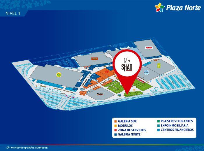 Mr. SHAO - Mapa de Ubicación - Plaza Norte
